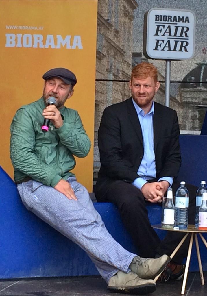Roland Düringer, Felix Hnat #fairfair14  Bild: Sarah Krobath