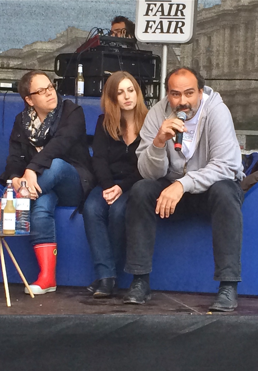 Katharina Seiser, Jasmin Schister, Christoph Wiesner #fairfair14  Bild: Sarah Krobath